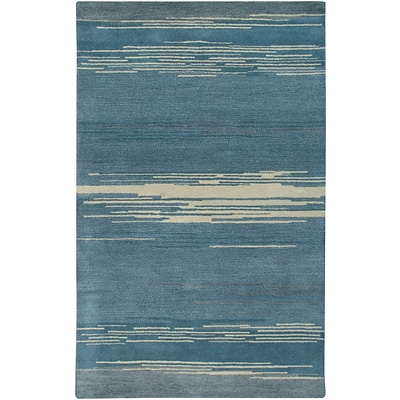 Rizzy Home Mojave Collection 100% Hard-Twist Wool 36x 56 Blue (MOJMV315700093656)