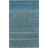 Rizzy Home Mojave Collection 100% Hard-Twist Wool 2 x 3 Blue (MOJMV316100090203)