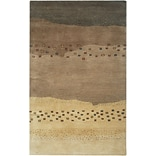 Rizzy Home Mojave Collection 100% Hard-Twist Wool 2 x 3 Tan/Brown (MOJMV316400040203)
