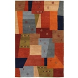Rizzy Home Mojave Collection 100% Hard-Twist Wool 5x8 Multi-Colored (MOJMV844700540508)