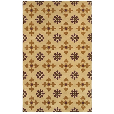 Rizzy Home Opus Collection 100% Wool 8x10 Khaki (OPUOP811200450810)