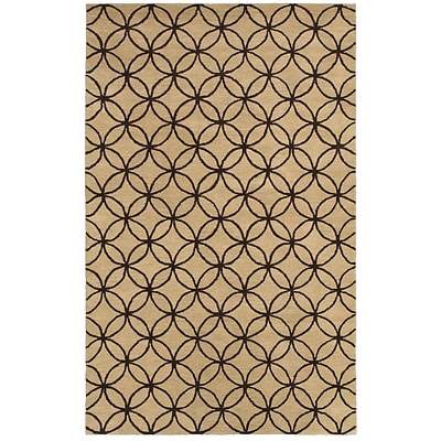 Rizzy Home Opus Collection 100% Wool 5x8 Khaki (OPUOP811404120508)