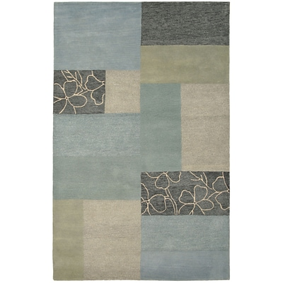 Rizzy Home Pandora Collection Twisted New Zealand Wool Blend 8x10 Blue (PANPR021400090810)