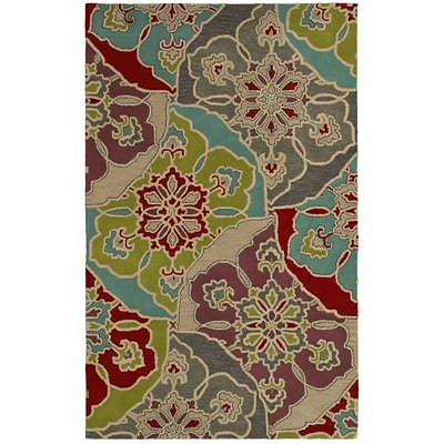 Rizzy Home Pandora Collection Twisted New Zealand Wool Blend 9x12 Multi-Colored (PANPR814500540912)