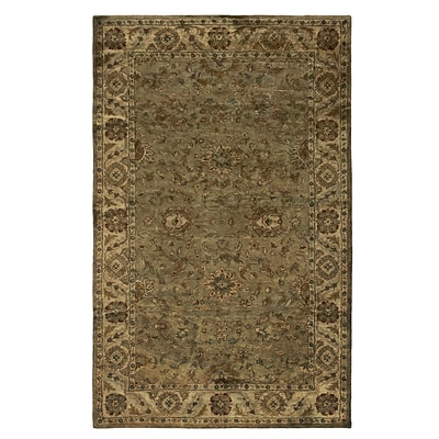 Rizzy Home Shine Collection 100% Semi-Worsted New Zealand Wool 2 x 3 Khaki (SHISN034830040203)
