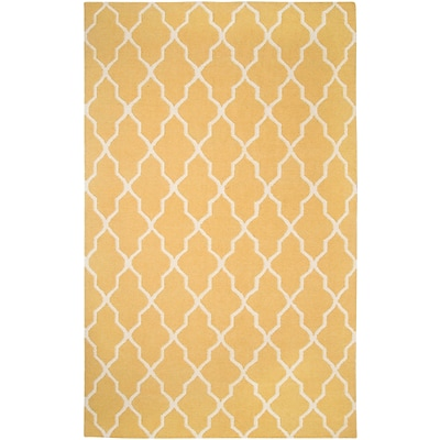 Rizzy Home Swing Collection New Zealand Wool Blend 3 x 5 Yellow/Gold (SWISG241700940305)