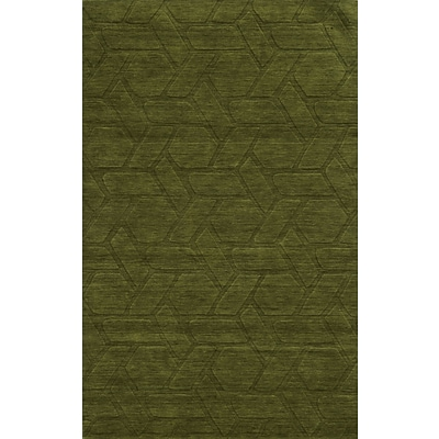 Rizzy Home Technique Collection 100% Wool 8x10 Green/Olive (TECTC828800300810)