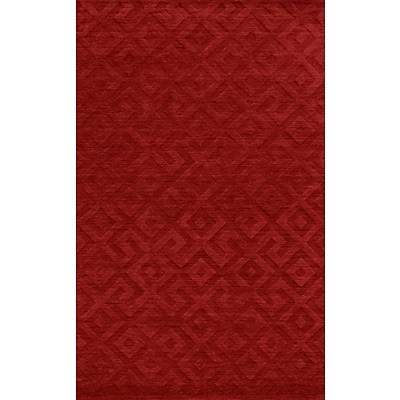 Rizzy Home Technique Collection 100% Wool 5x8 Red (TECTC828900700508)