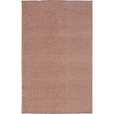 Rizzy Home Twist Collection New Zealand Wool Blend 3 x 5 Burgundy (TSTTW296700140305)