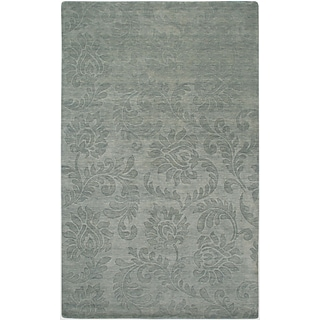 Rizzy Home Uptown Collection New Zealand Wool Blend 9x12 Gray (UPTUP241000330912)
