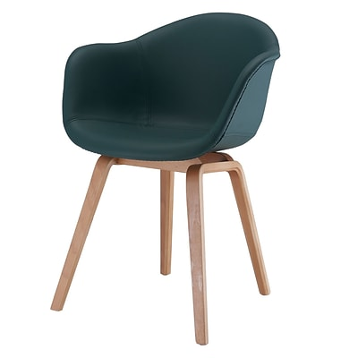 Meelano M18 Chair in Vegan Leather with Beech Wood Base (Set Of Two) (18-VGN-HNT)