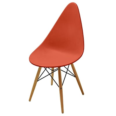 Meelano M22 Chair in Matte Orange Molded Plastic (Set Of Two) (22-ORN)