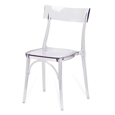 Meelano M20 Ghost Chair in Transparent Molded Plastic (Set Of Two) (20-CLR)