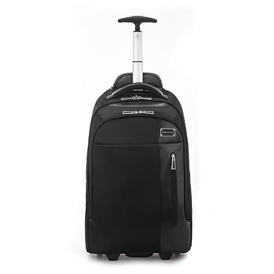 Eco Style Tech Executive Rolling Backpack for 17 Laptop, Black (ETEX-RB17)