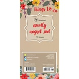 TF Publishing 8 x 4 Secret Garden 70 page Magnetic List Pad   (10-6221)