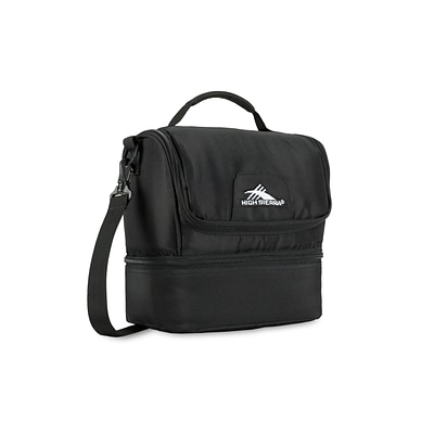 High Sierra Double-Decker Lunch Bag, Black (74713-1041)