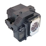 eReplacements 200 W Replacement Projector Lamp for Epson MovieMate 85HD; Black (ELPLP66-ER)