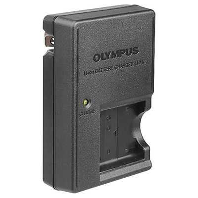 Olympus® LI-41C Lithium-Ion Battery Charger for LI-40B/LI-42B Batteries; Black