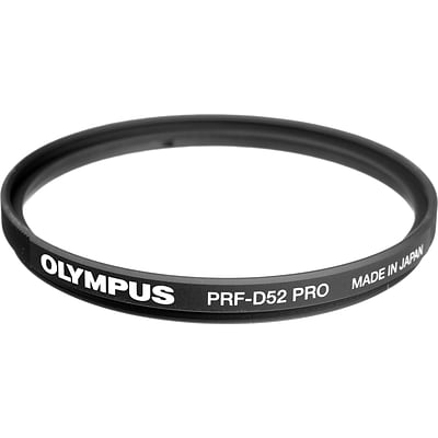 Olympus® PRF-D52 Pro Protective Filter for Micro Zuiko Digital ED 9 - 18 mm f/4.0-5.6 Lens; Black/Clear