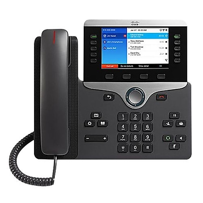 Cisco™ 8861 5-Line IP Phone, Corded, Office Phones, Charcoal