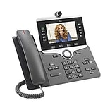 Cisco™ 8845 5-Line IP Video Phone, Corded, Office Phones, Charcoal