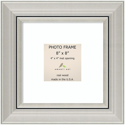 Amanti Art  Romano Silver Wood Photo Frame 8 x 8 (DSW1385368)