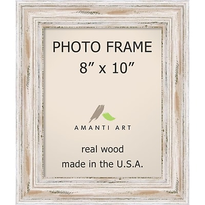 Amanti Art  Alexandria Whitewash Wood Photo Frame 8 x 10 (DSW1385330)
