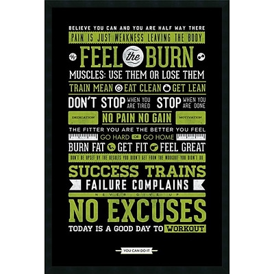 Amanti Art Gym - Motivational Framed Art Print with Gel Coated Finish 25 x 37 (DSW1246003)