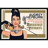 Amanti Art Breakfast at Tiffanys - Gold Framed Art Print with Gel Coated Finish 37 x 25 (DSW1408
