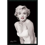 Amanti Art Milton H. Greene Marilyn Monroe - Red Lips Framed Art Print with Gel Coated Finish 25