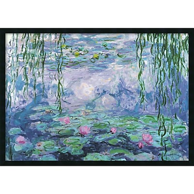 Amanti Art Claude Monet Nympheas Framed Art Print with Gel Coated Finish 37 x 25 (DSW1408623)
