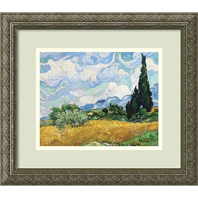 Amanti Art Vincent van Gogh Wheatfield with Cypresses Framed Art Print 16 x 14 (DSW2967067)