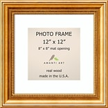 Amanti Art  Townhouse Gold Wood Photo Frame 12 x 12; Matted to 8 x 8 15 x 15-inch (DSW1385316)