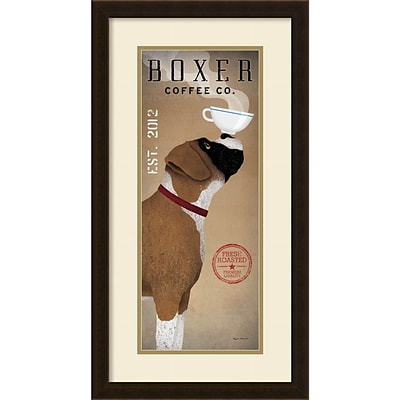 Ryan Fowler Boxer Coffee Co. v.2 Framed Art Print 15 x 28 (DSW1385081)