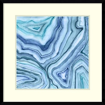 Megan Meagher Custom Agate Abstract II Framed Art Print 23 x 23 (DSW2972501)