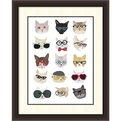 Hanna Melin Cats with Glasses Framed Art Print 30 x 36 (DSW1418397)