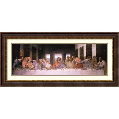 Leonardo da Vinci The Last Supper (Detail) Framed Art Print 45 x 21 (DSW2967085)