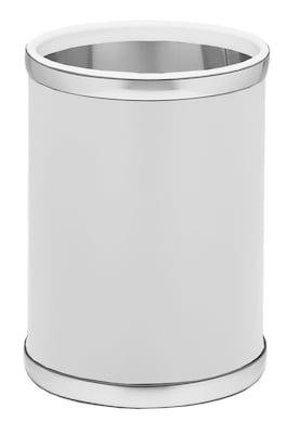 Kraftware Sophisticates 2.5 Gallon Waste Basket; Brush