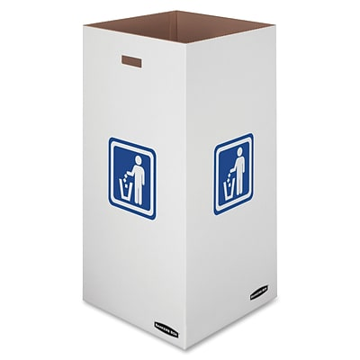 Fellowes® Recycling Waste Bin, Large, 50-Gallon, 10/Carton