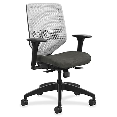 HON® Solve Series ReActiv Back Task Chair, Black/Platinum