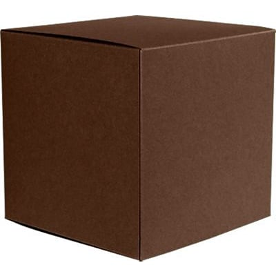 LUX® Small Cube Gift Boxes, 2 5/32 x 2 1/8 x 2 5/32, Chocolate Brown, 1000 Qty (SCUBE-17-1M)