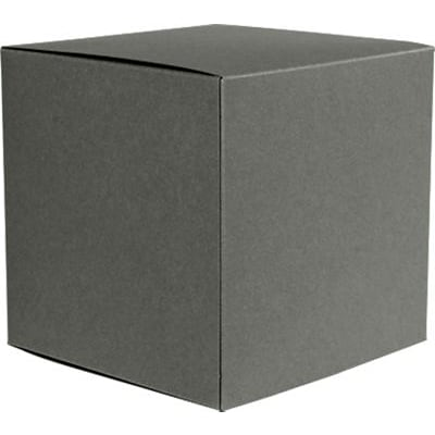 LUX® Medium Cube Gift Boxes, 3 17/32 x 3 9/16 x 3 17/32, Smoke Gray, 250 Qty (MCUBE-22-250)