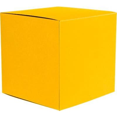 LUX® Medium Cube Gift Boxes, 3 17/32 x 3 9/16 x 3 17/32, Sunflower Yellow, 10 Qty (MCUBE-12-10)