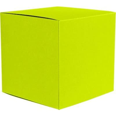LUX® Small Cube Gift Boxes, 2 5/32 x 2 1/8 x 2 5/32, Wasabi Green, 500 Qty (SCUBE-L22-500)
