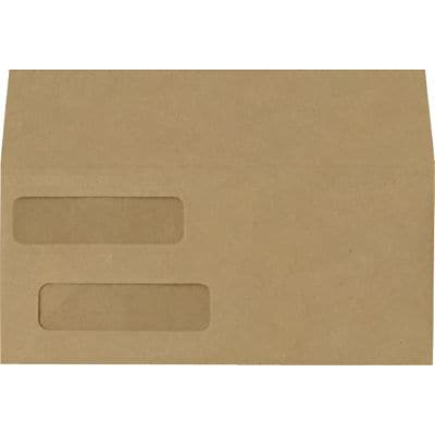 LUX Double Window Invoice Envelopes (4 1/8 x 9 1/8) 1000/Box, Grocery Bag (INVDW-GB-1M)