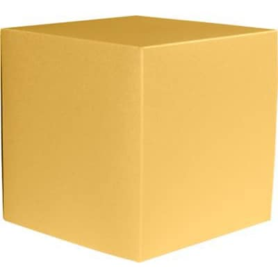 LUX® Small Cube Gift Boxes, 2 5/32 x 2 1/8 x 2 5/32, Gold Metallic, 50 Qty (SCUBE-07-50)
