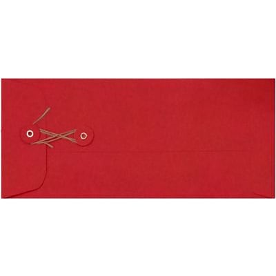 LUX #10 Button & String Envelopes (4 1/8 x 9 1/2) 250/Box, Ruby Red (LUX-10BS-18-250)
