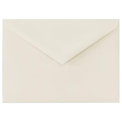 LUX 5 1/2 BAR Envelopes (4 3/8 x 5 3/4) 250/Box, 100% Cotton - Natural White (512BAR-SN-250)