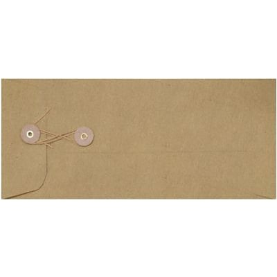 LUX #10 Button & String Envelopes (4 1/8 x 9 1/2) 500/Box, Grocery Bag (10BS-GB-500)