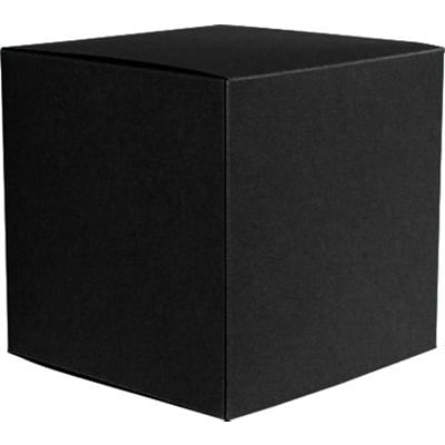 LUX® Small Cube Gift Boxes, 2 5/32 x 2 1/8 x 2 5/32, Black Linen, 1000 Qty (SCUBE-BLI-1M)